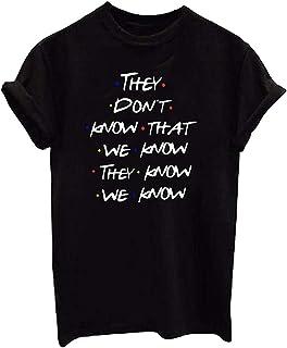 Jmwss QD Womens Top Short Sleeve Fashion Crewneck Letter Print Fashion Blouse T Shirt Top 1 X-Smalll