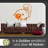 Domo Sheep Wandtattoo in 6 Größen - Wandaufkleber Wall Sticker