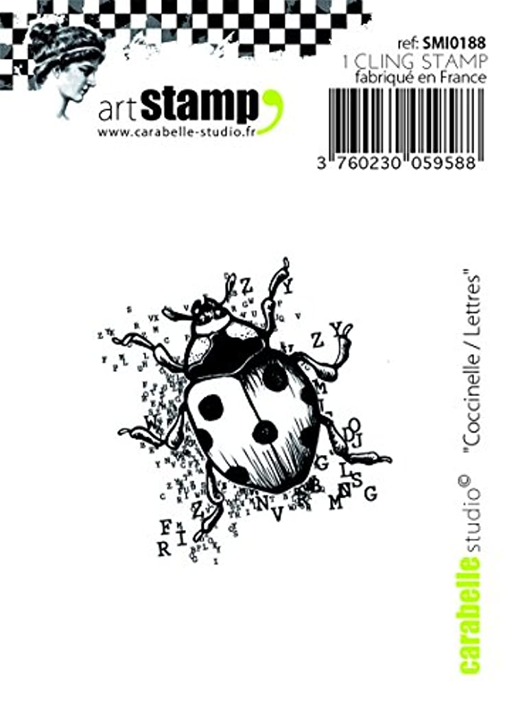 Carabelle Studio SMI0188 Cling Stamp - Coccinelle / Lettres (Beetle with Letters)