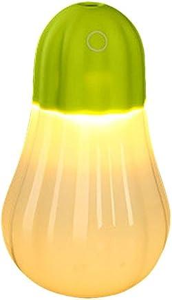 Sheremi 卓上加湿器 350ml容量 ミニ 超音波式 空気清浄機 除菌 静音 車載 寝室 各場所用 LEDライト 室内乾燥対応 空焚き防止 3色 (13.8cm*8cm, グリーン)