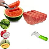 Genietti Watermelon Slicer Knife Cutter Corer Server Scoop Stainless Steel Green