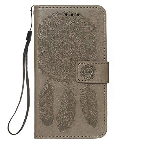 Nadoli Gaufrage Portefeuille Coque pour Samsung Galaxy S20 Plus,Etui Housse Dreamcatcher Mandala Fleur PU Cuir Magnétique Fermeture Flip Wallet Étui Coquille Couverture