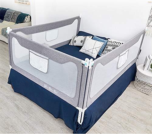 Rieles de cama para niños pequeños, extra largos, tamaño individual, matrimonial, queen, king, barandilla de seguridad para bebés con sistema de seguridad de anclaje reforzado,...