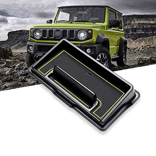 LFOTPP Jimny JB64 Jimunishiera JB74 - Organizador de herramientas para coche, soporte para teléfono, consola central, color verde