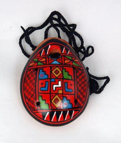 Mini Ocarina Pendant With Traditional Andean Design