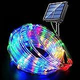 Fatpoom Solar Lights Rope Lights Solar Powered String Lights 40FT 120 LEDs 8 Modes Fairy...