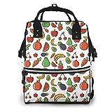 Bolsa de pañales de frutas vegetales multifunción Bolsas de pañales para el cuidado del bebé impermeable amplia mochila de viaje abierta para la organización