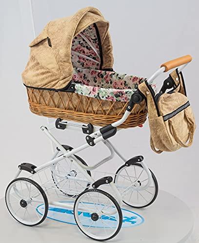 Zekiwa Modell: Piccolino, Korbpuppenwagen mit Anhängetasche