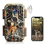 usogood Wildkamera WLAN 4k 30MP mit Bluetooth APP, Wildtierkamera mit Bewegungsmelder Nachtsicht...