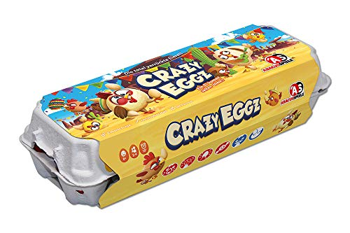 ABACUSSPIELE 54191 - Crazy Eggz, Familienspiel, Aktionsspiel, Partyspiel im orginellem Eierkarton