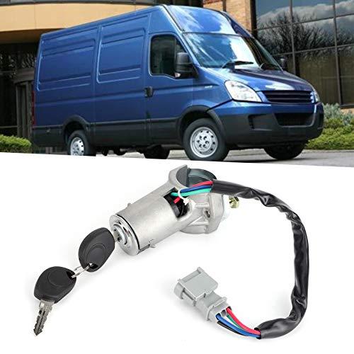Cerradura del interruptor de encendido, con cerradura de barril de encendido de 2 llaves, para coche Iveco Daily