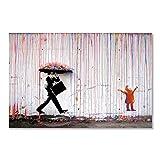 Leinwanddruck,Moderne Abstrakte Farbenfrohe Rain Man Kind