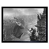 Khaldei War WWII USSR Flag Over Reichstag Photo Art Print