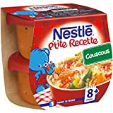 Nestlé Bébé P'Tite Recette Couscous Plat Complet Dès 8 Mois 2 x 200 g