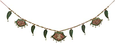 Handicrafts Paradise Door Hanging Bandhanwar in Metal with Ganesha motiff