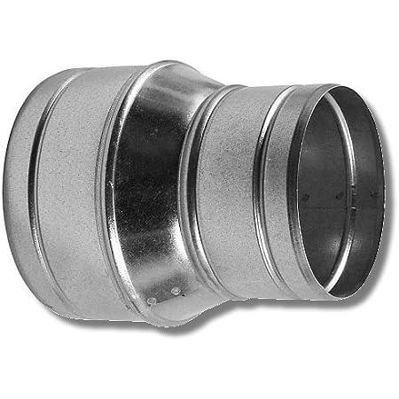 Reduzierst/ück Reduktion Aluflex Rohr Flexrohr L/üftung Wickelfalzrohr Verzinkt 200-150 18112-014 MKK