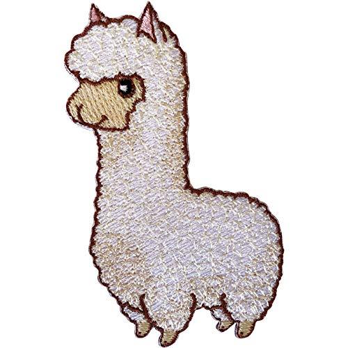 ELLU Parche Llama Alpaca Hierro Cosido sobre Lama Oveja Insignia Bordada Bordado Animal