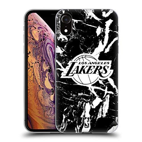 Head Case Designs Oficial NBA Mármol 2019/20 Los Angeles Lakers Carcasa de Gel de Silicona Compatible con Apple iPhone XR