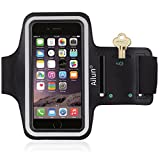 Ailun Phone Armband Compatible iPhone 8 7 Plus,Feartured with Sport Scratch-Resistant Material,Slim Light Weight,Dual Arm-Size Slots,Sweat Resistant&Key Pocket,with Headphone Ports[BLACK]