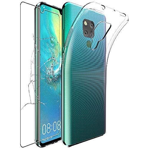 ebestStar - Coque Compatible avec Huawei Mate 20 X 20X 5G Etui Housse Silicone Gel Anti-Choc Ultra Fine Invisible, Transparent + Film Verre Trempé [20X: 174.6 x 85.4 x 8.4mm, 7.2'']