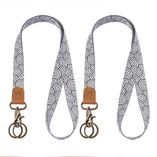Lanyard for Keys, Nice Pattern Neck Strap Key Chain Holder Lanyards for ID Badges (Cloud)