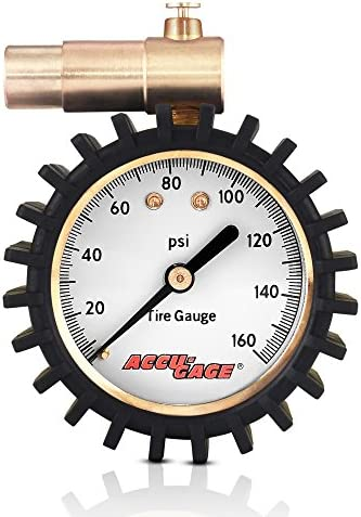 Accu Gage Presta Valve Bicycle Tire Pressure Gauge 160psi product image