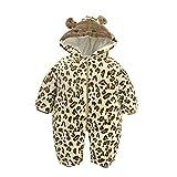 JSIHENA Schlafsack Baby Strampler für Kinder sowie Neugeborene Overalls aus Baumwolle für Herbst und Winter Mach dir Keine Sorgen über Erkältungen in der Nacht,Leopards