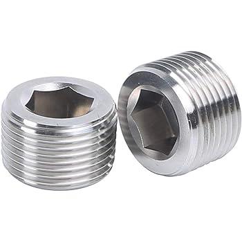 AC PERFORMANCE Aluminum 3//4 3//4 inch NPT Thread Allen Head Socket Pipe Plugs Pack of 2 Black