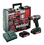 Metabo BS 18 Quick Set Perceuse-visseuse sans fil 18 V/2,0 Ah, Atelier mobile 602217880