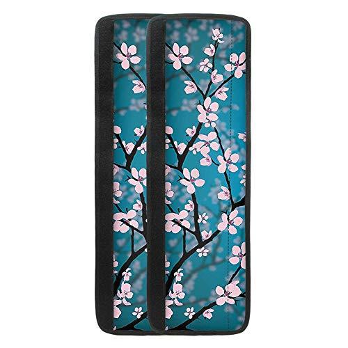 TOADDMOS Cherry Blossoms - Soporte para nevera, diseño de flores en azul, 2 unidades