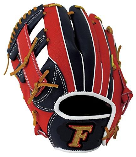 サクライ貿易SAKURAI) Falcon(ファルコン) 野球 一般軟式用 オールラウンド用 グローブ Sサイズ FG-5718RH 左投げ用 ネイビー×レッド
