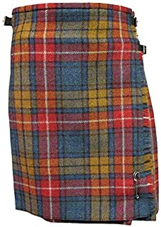 Ladies Authentic Shetland Wool Kilt Royal Stewart Antique Tartan TG0800