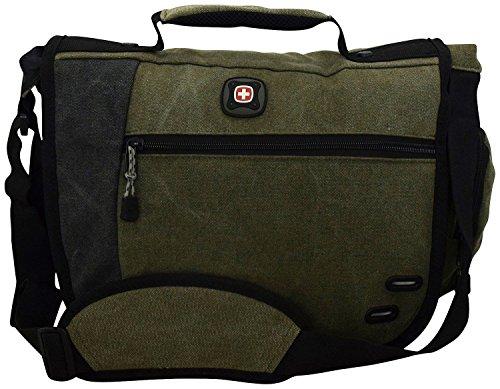 """Swissgear""""Zinc"""" Messenger Bag-Green"""