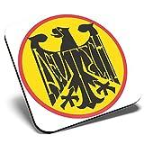 Posavasos cuadrados con logotipo de águila alemana amarilla de Alemania Deutschland | Posavasos de calidad brillante | Protección de mesa para cualquier tipo de mesa #5439