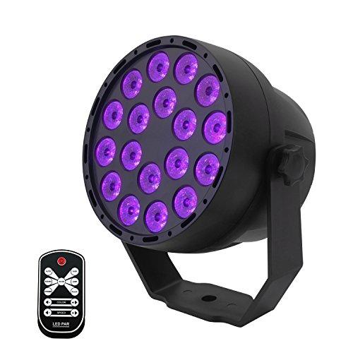 Luces Negras UV,Eleganted 7 Modos Luces De Etapa,3Wx18 LEDs Sonido...