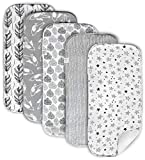 Cambria Baby Organic Cotton Premium Burp Cloths. XL Coverage. 2 Outer Layers of Organic Cotton w/Absorbent Inner Layer of Polyester Fleece. Neutral Colors for Boys and Girls. Chemical-Free. 5 Pack