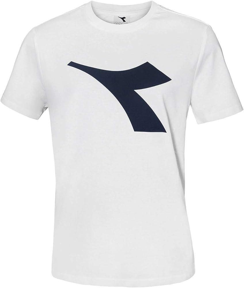 Diadora t-shirt , maglietta a maniche corte per  uomo , con logo in risalto , 90% cotone, 10% viscosa DiadoraTShirt177173
