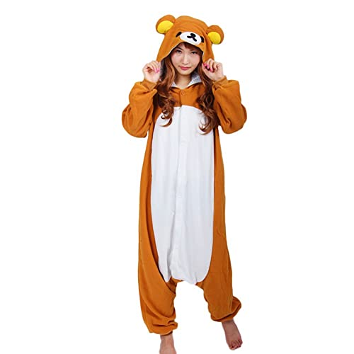 b1b929434d78 Datangep Halloween Unisex Winter Wear Pajamas Christmas Carnival Party  Costume Rilakkuma M