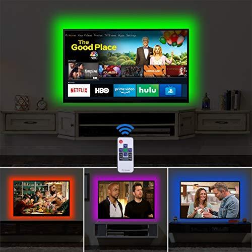 AWANFI 3m LED TV Backlights USB LED Light Strip RGB Decorative Lighting for 50-55 Inch HDTV, PC...