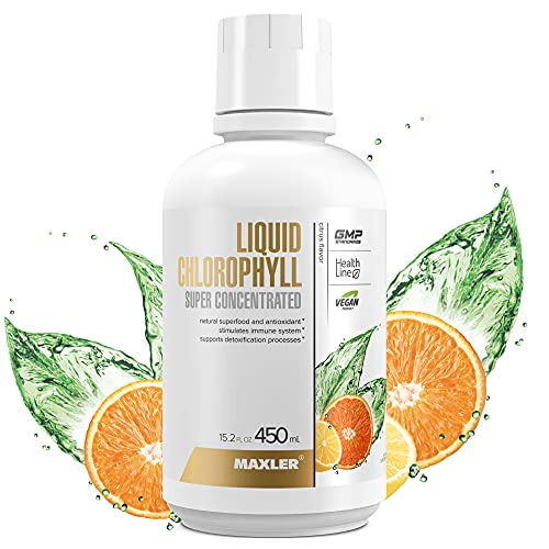 Maxler Liquid Chlorophyll Super Concentrated Citrus Flavor - Internal Deodorant for Body Odor & Bad Breath Supplement - Vegan Chlorophyll Liquid - 100 mg of Chlorophyllin per 1 Serving (90 Servings)