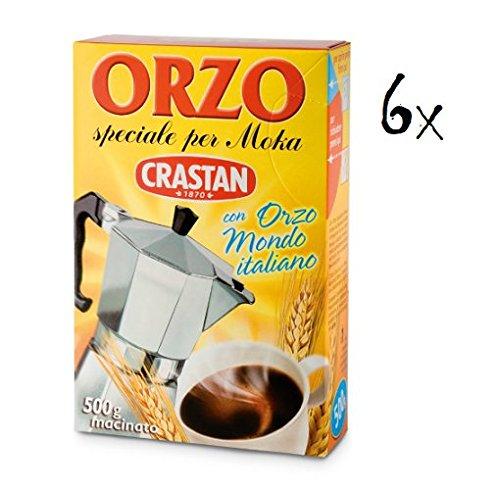 6x Crastan Orzo per moka kaffee Instant lösliche Gerste Getreidekaffee Kaffee 500gr