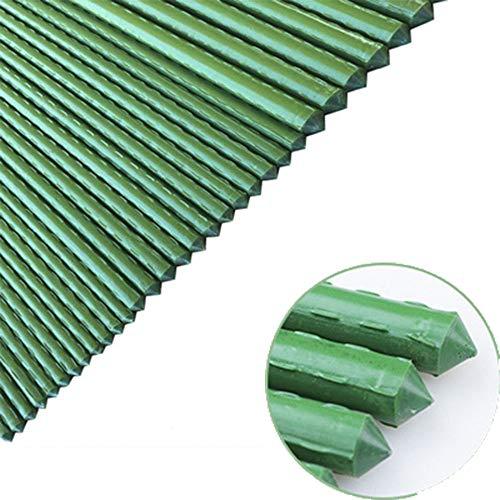 HDGZ Garten Tuteurs pour Plantes 90/120/150cm, Installation Jardin, Piquet de Support Installation en Plastique Tube d'Acier revêtu en diamètre 20mm, Pack de 10(1.5cm Long)