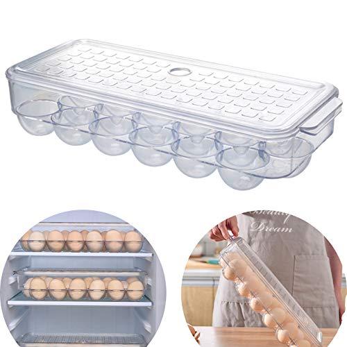 Caja De Huevos Bandeja De Huevos Para Nevera Caja De Almacenamiento De Huevos Portátil Bandeja De Plástico Para Huevos Bandejas De Plástico Para Huevos Porta Huevos Apilables De Plástico Para Proteger
