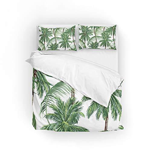 MyDaily Bettwäsche-Set, Tropische Palmen, Mikrofaser, Polyester, Bettwäsche-Set, Polyester, Multi, Single(135x200cm)