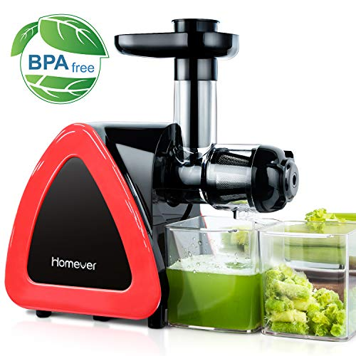 Juicer Machines, HOMEVER Slow Masticating Juicer for Fruits and Vegetables, Quiet...