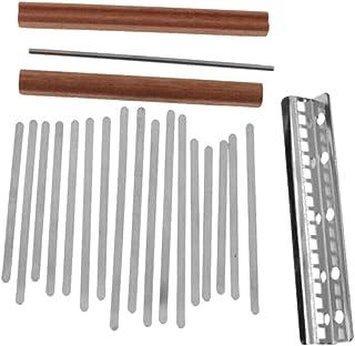 DIY Kalimba 17 llaves de acero con pulgar Piano Mbira Bridge Saddle para hacer bricolaje
