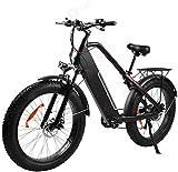 Bicicletas Eléctricas, De bicicleta plegable eléctrica 500w Adulto Mujeres paso a través de 7 Velocidad 48v 12ah extraíble de iones de litio 4.0 Fat Tire todo terreno plegable de cercanías de la nieve