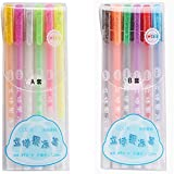 3D Jelly Pen Set - Candy Color Gel Pen, Art Supplies 1.0mm Bold Point Markers, Handwriting Pens, Ink Pens For Writing A&B