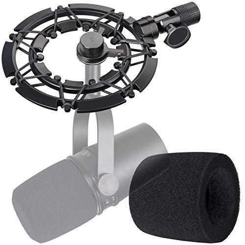 Shure MV7 Montura de Choque con Funda de Esponja para Reducir el Ruido de Vibración para el...