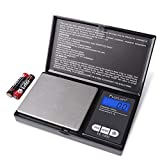 Digital Pocket Scale, High Accuracy within 1000g/0.1g, Personal Nutrition Scale with LCD Back-Lit...